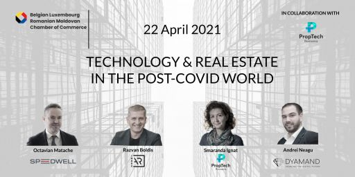 Webinar Thursday 22 April at 4 pm Bucharest time : Technology and Real Estate in the post-COVID world
